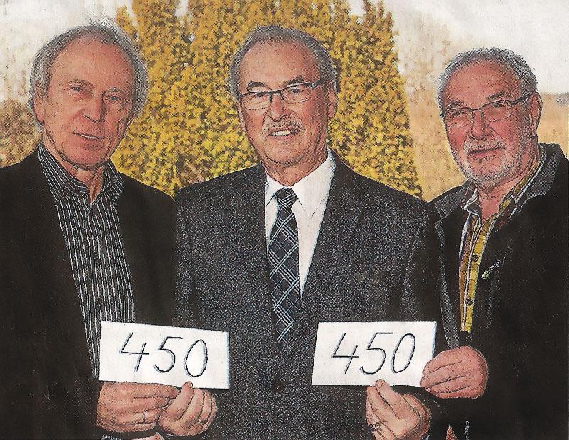 V.l.n.r. Helmfried Struif, Günter Walter, Manfred Franz. Foto: Röder-Moldenhauer