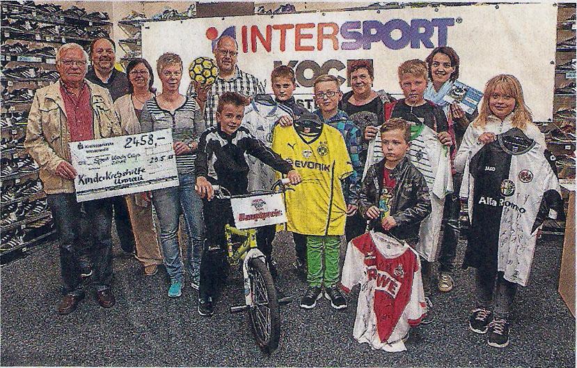 Einfach eine tolle Sache ist der Sport-Koch-Jungedcup. Jetzt wurden die Hauptgewinne und eine Spende übergeben. Foto: Röder-Moldenhauer