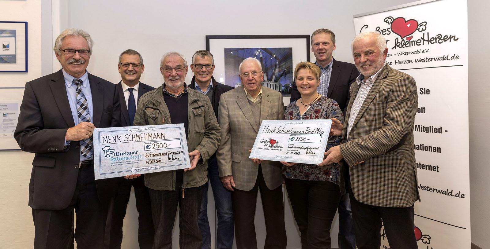 Menk-Schmehmann-Group spendet statt Weihnachtsgeschenke