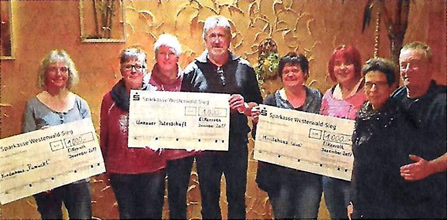 Die Elkenrother Kreativgruppe unterstützt mit 3000 Euro soziale Einrichtungen.