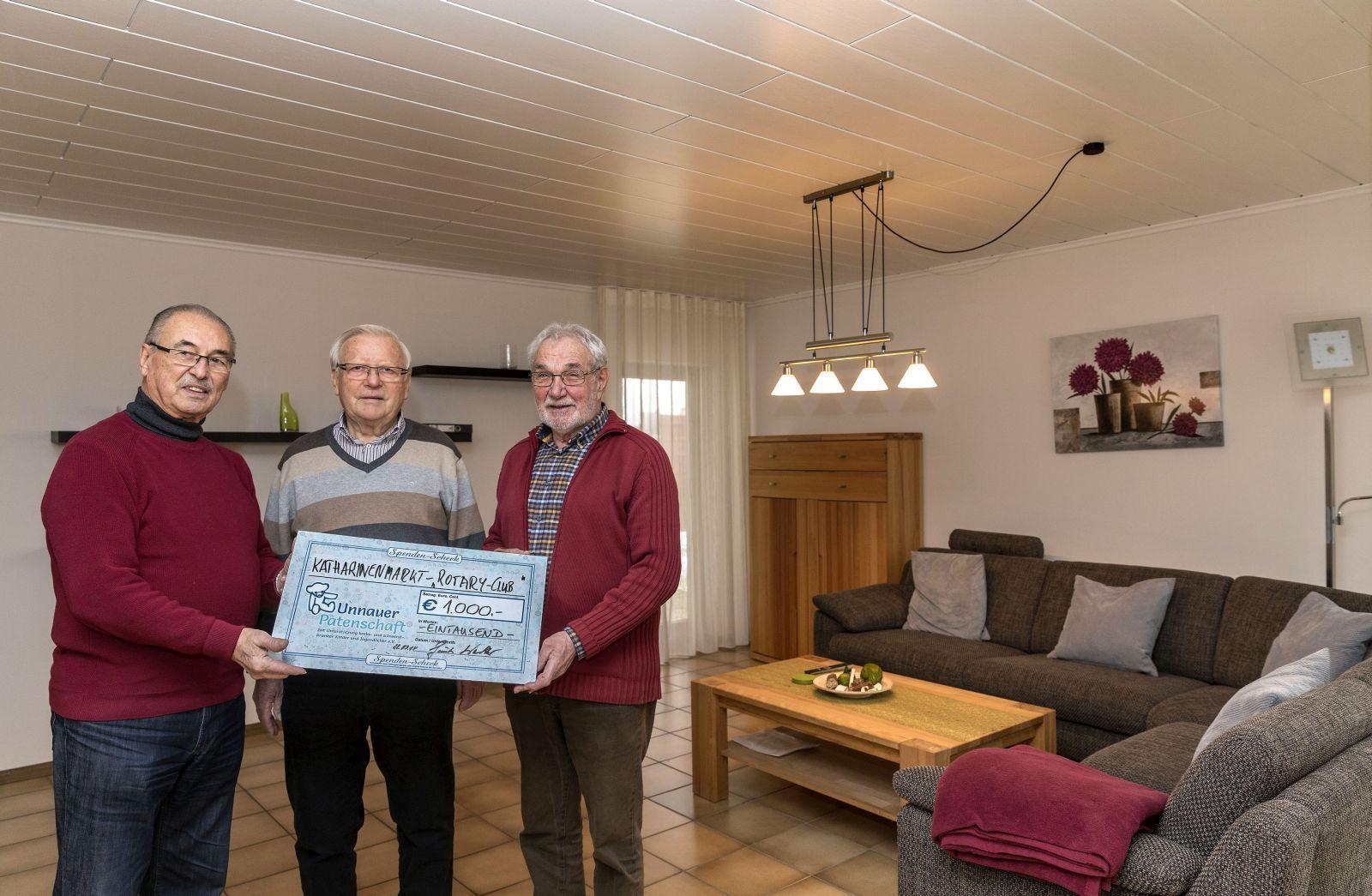 Rotary Club Westerwald spendet 1.000 Euro