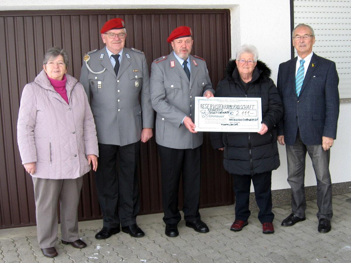Bild v.l.: Renate Roos, Bernward Groß, Stefan Hilpisch, Ursula Eller und Günter Walter
