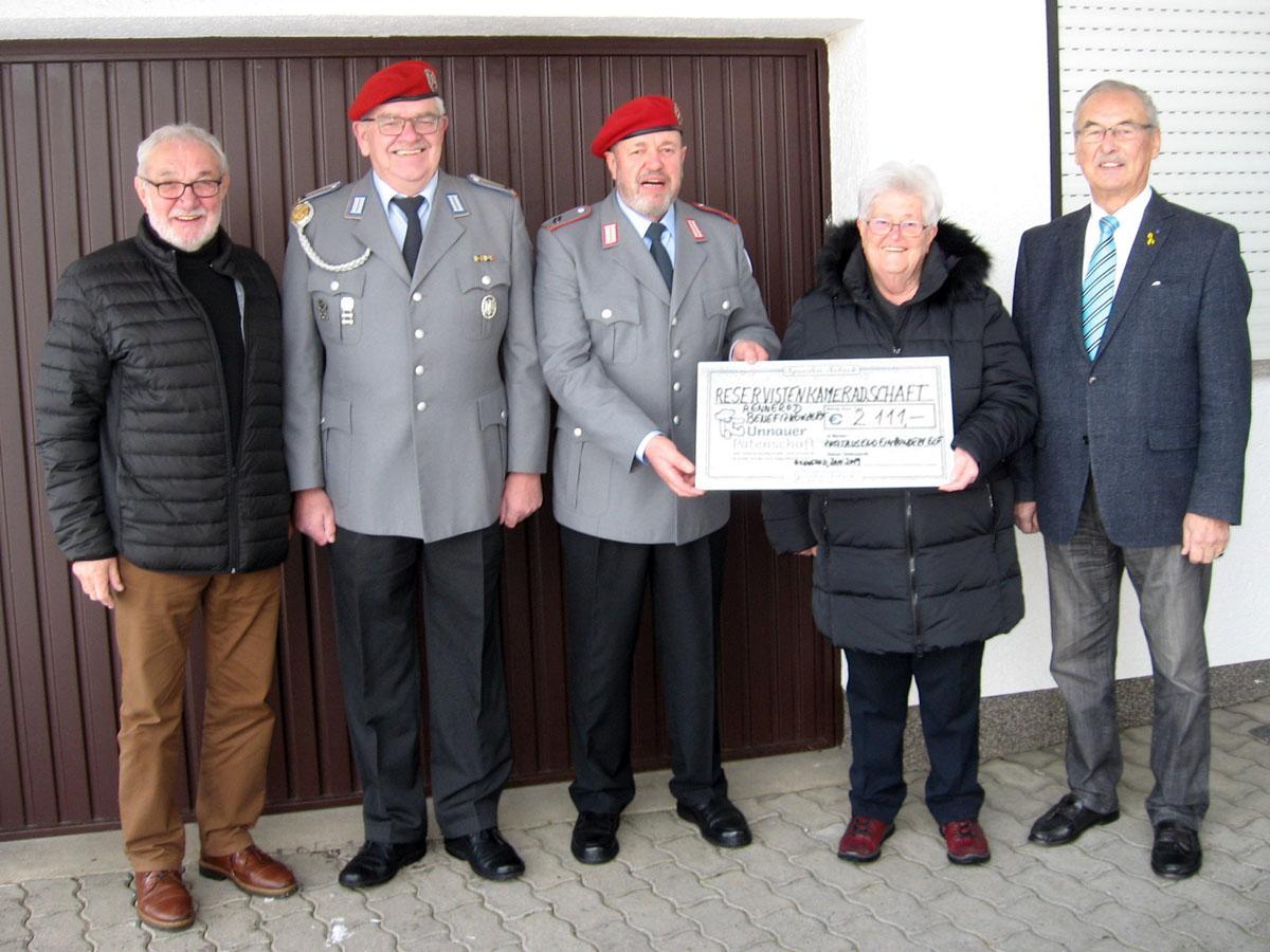 Bild v.l.: Manfred Franz, Bernward Groß, Stefan Hilpisch, Ursula Eller und Günter Walter