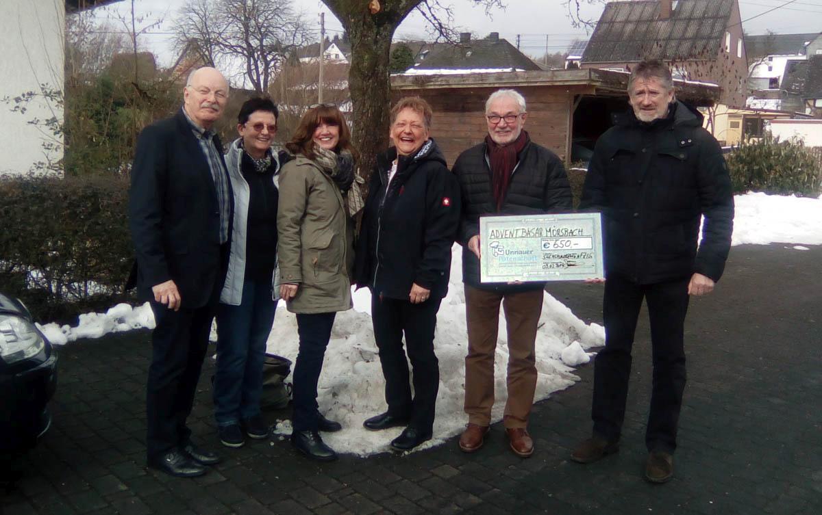 Neujahrsfrühstück der  Ortsgemeinde Mörsbach mit Adventbasar-Spendenübergabe