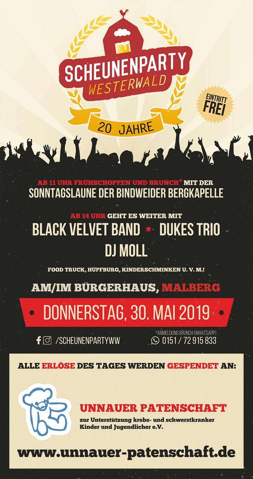 Scheunenparty Westerwald am 30.05.2019