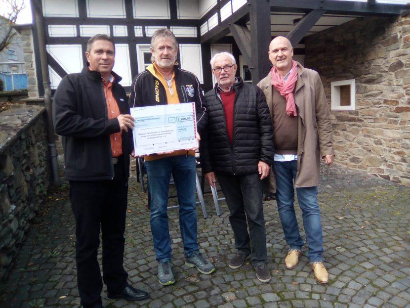 Bauder v.l. Rainer Pohl, Rolf-Dieter Wiederstein, Manfred Franz u. Reinhard Dillmann
